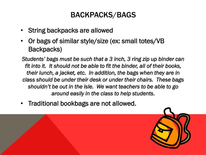 Backpacks/Bags