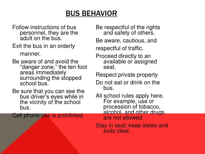 Bus Behavior