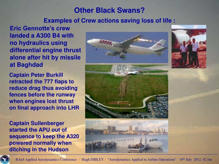 Other Black Swans?