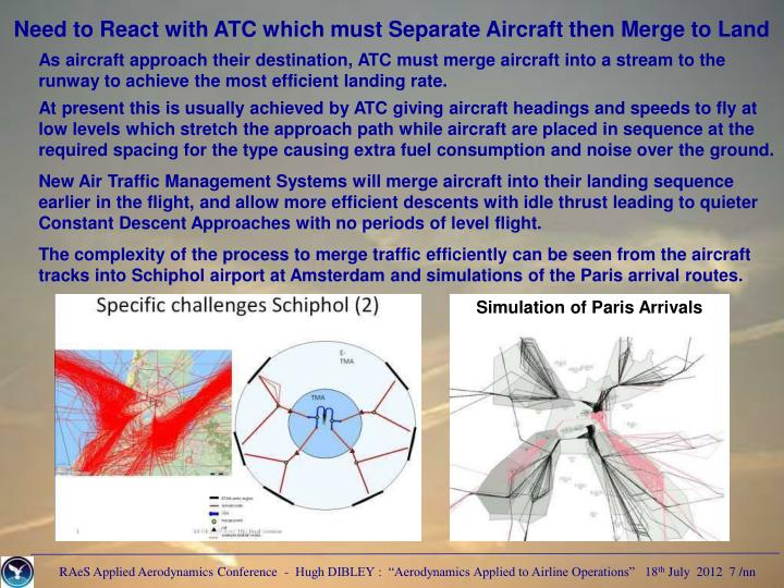 Need to React with ATC which must Separate Aircraft then Merge to Land