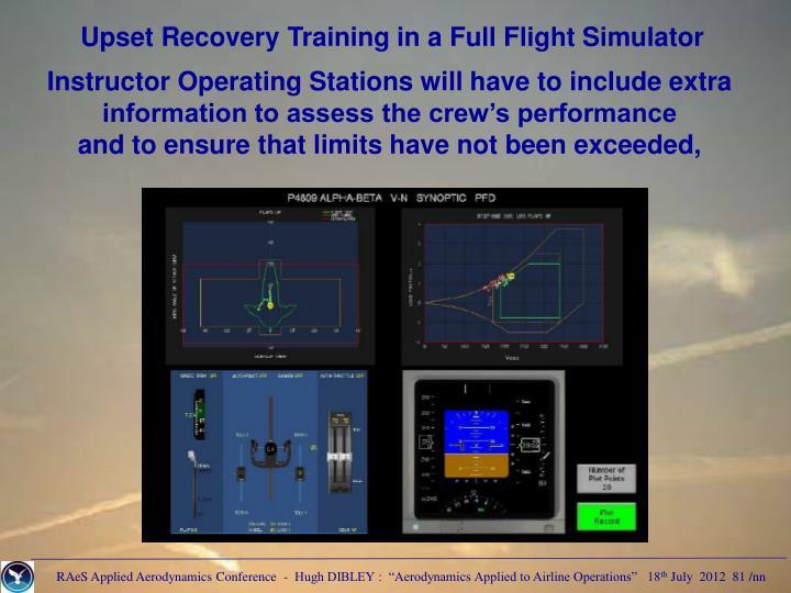 Upset Recovery Training in a Full Flight Simulator