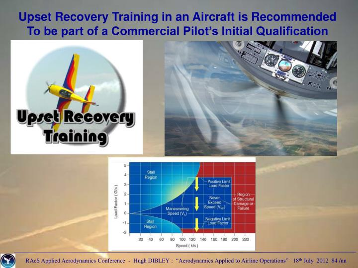 Upset Recovery Training in an Aircraft is Recommended