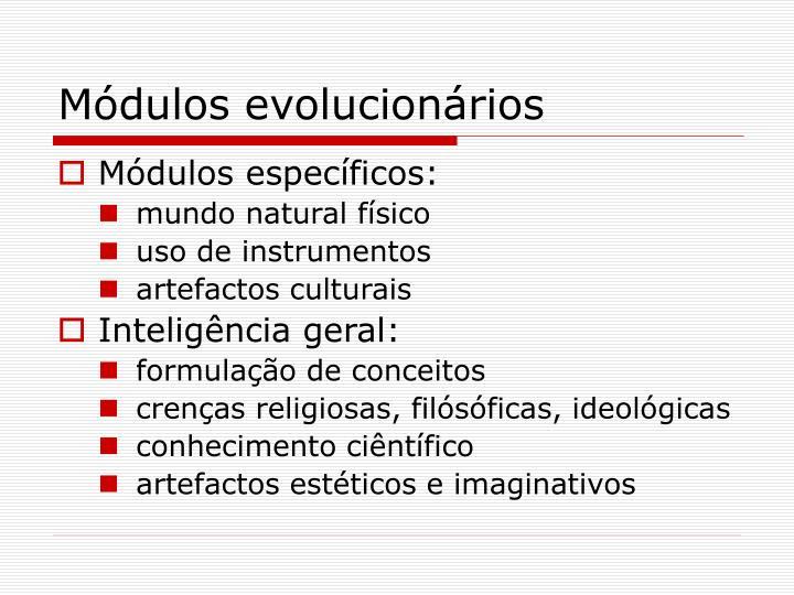 Módulos evolucionários
