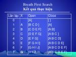 breath first search k t qu th c hi n