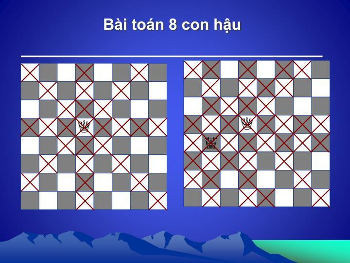 Bài toán 8 con hậu