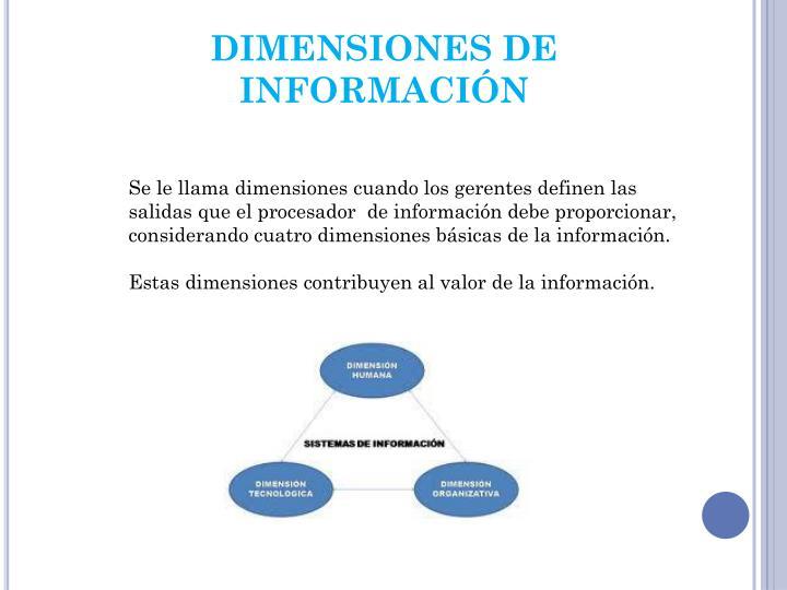 DIMENSIONES DE