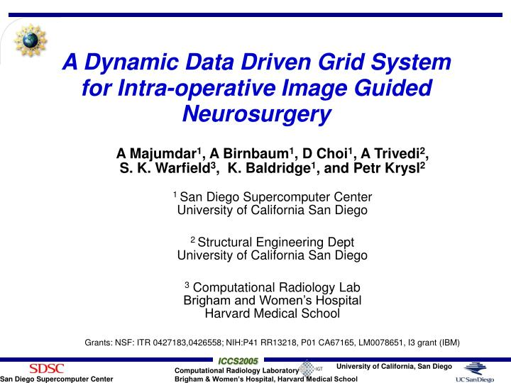 A dynamic data driven grid system for intra operative image guided neurosurgery