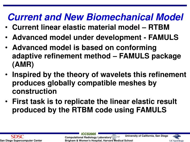 Current and New Biomechanical Model