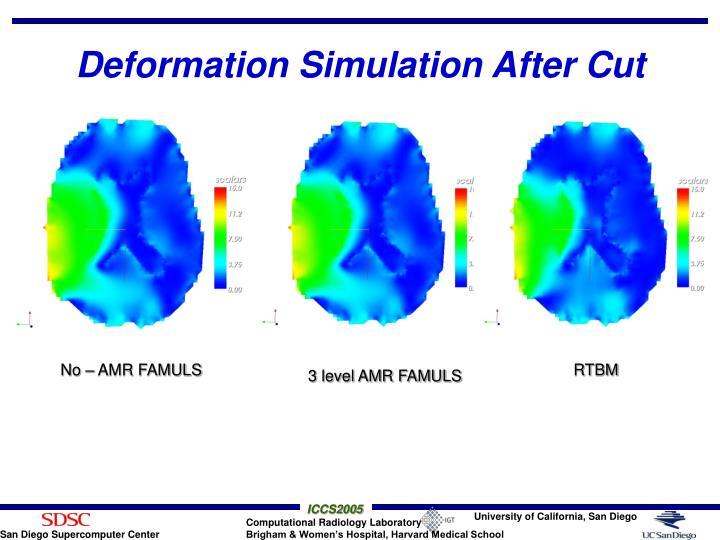 Deformation Simulation After Cut