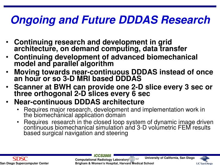 Ongoing and Future DDDAS Research