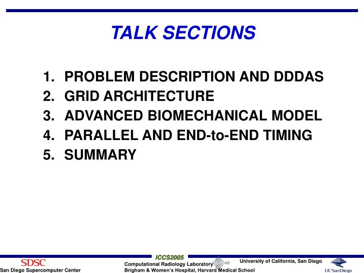 Talk sections