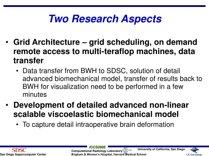Two Research Aspects
