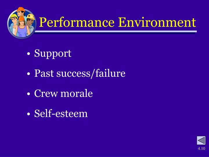 Performance Environment