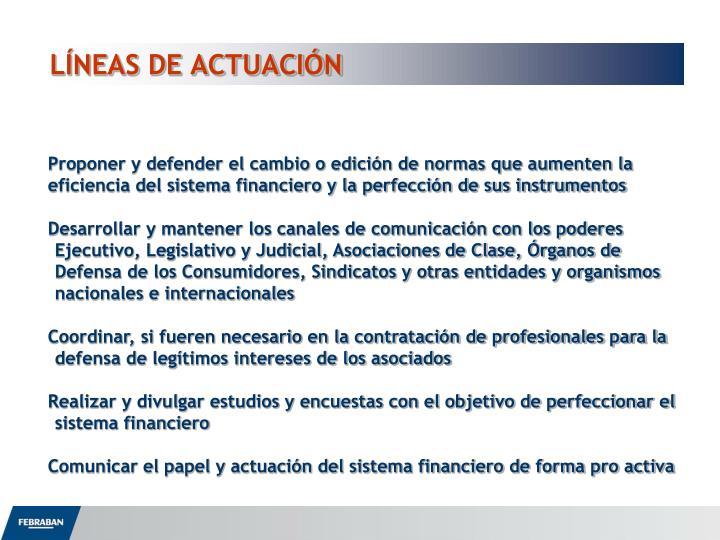 LÍNEAS DE ACTUACIÓN