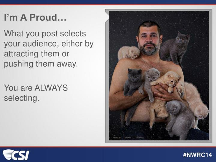 I'm A Proud…