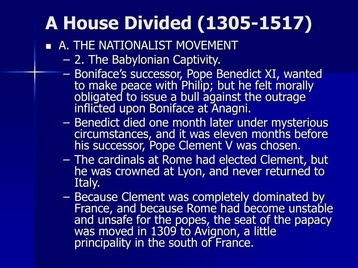 A House Divided (1305-1517)