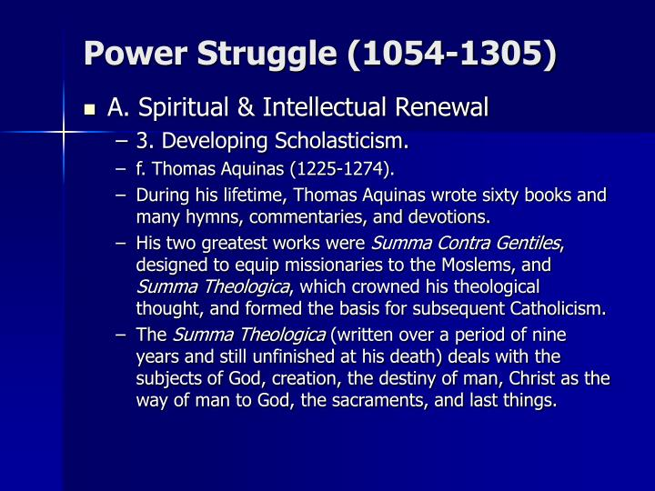 Power Struggle (1054-1305)