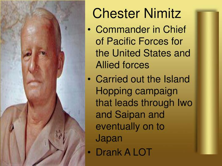 Commander in Chief of Pacific Forces for the United States and Allied forces