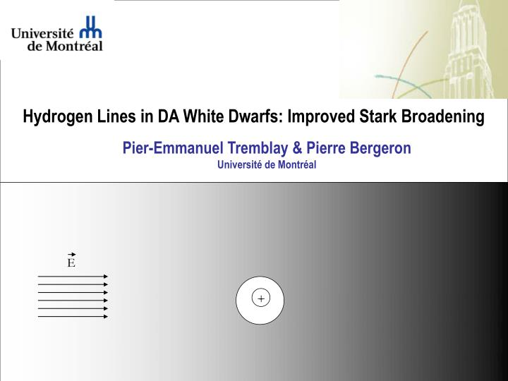 Hydrogen Lines in DA White Dwarfs: Improved Stark Broadening