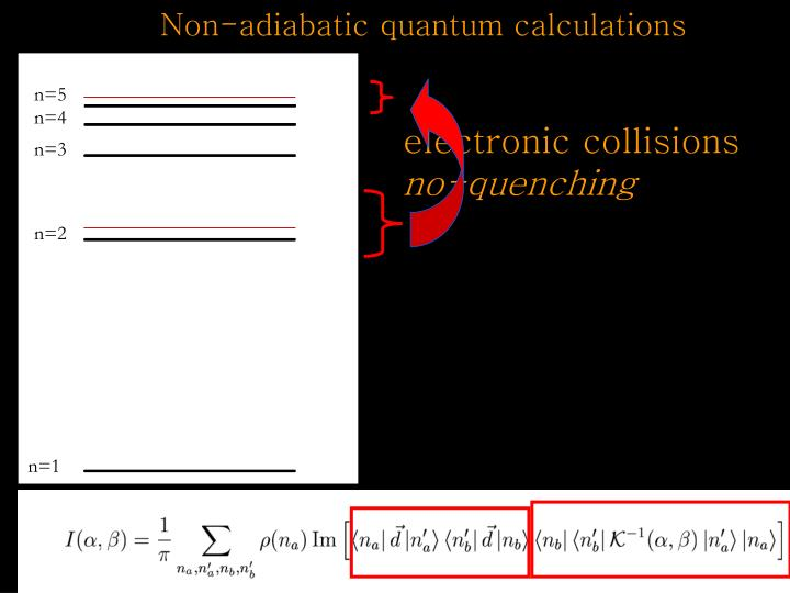 Non-adiabatic quantum calculations
