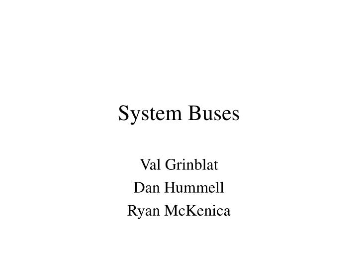System buses