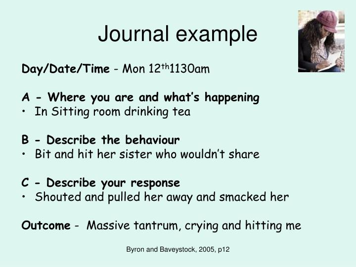 Journal example
