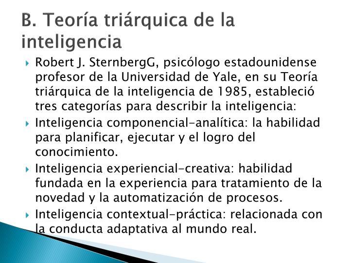 B. Teoría