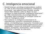 c inteligencia emocional