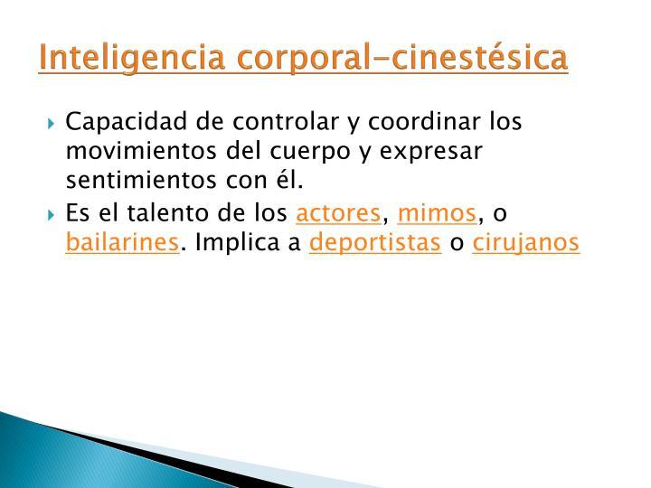 Inteligencia corporal-