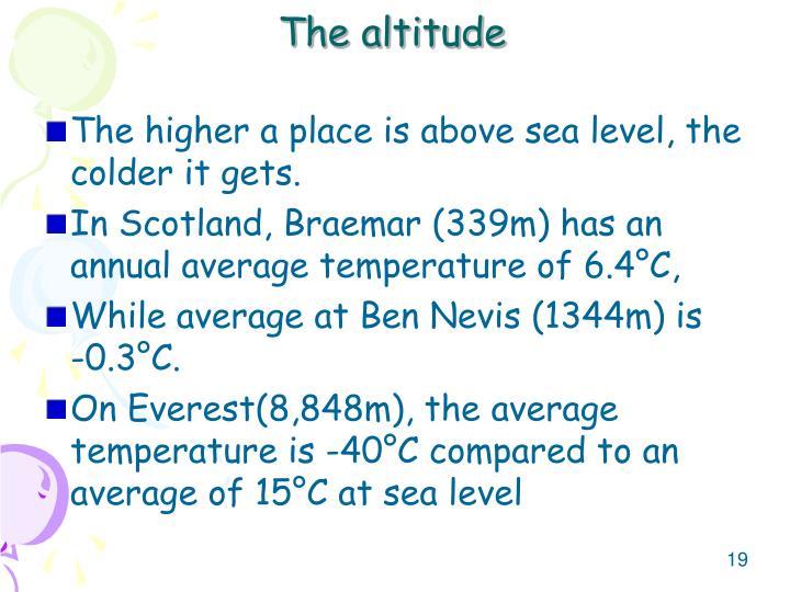 The altitude