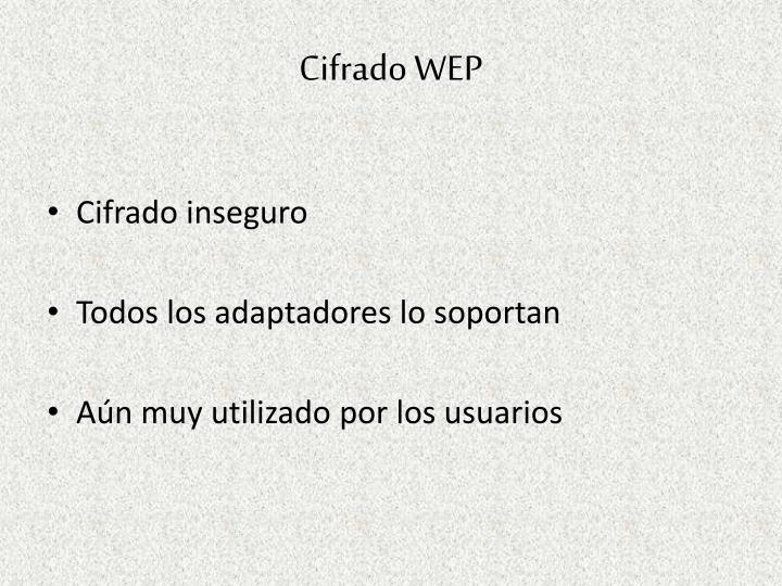 Cifrado WEP