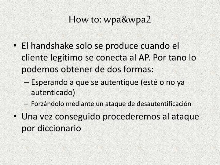 How to: wpa&wpa2