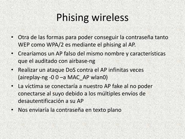 Phising wireless