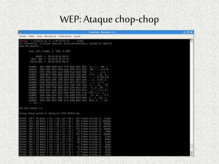 WEP: Ataque chop-chop