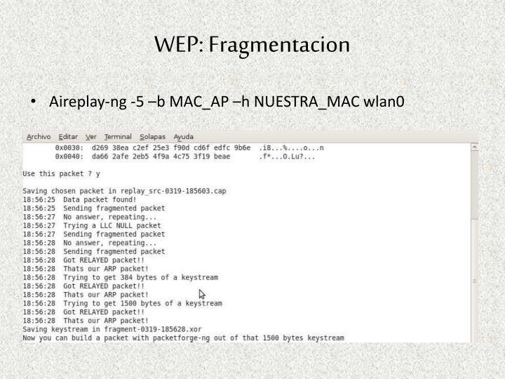 WEP: Fragmentacion