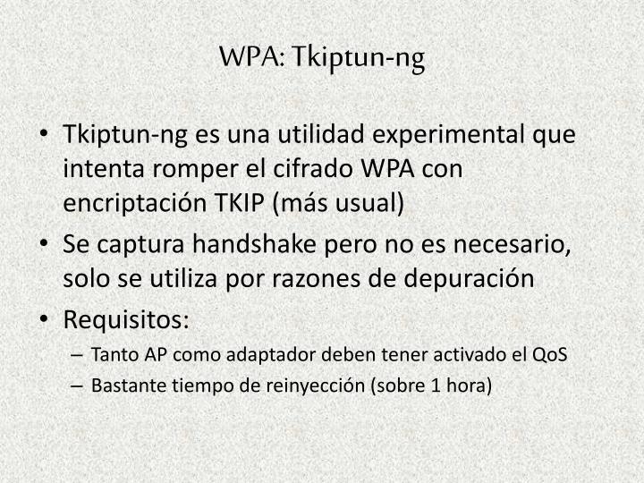 WPA: Tkiptun-ng