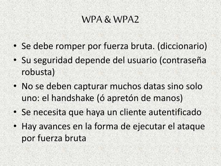 WPA & WPA2