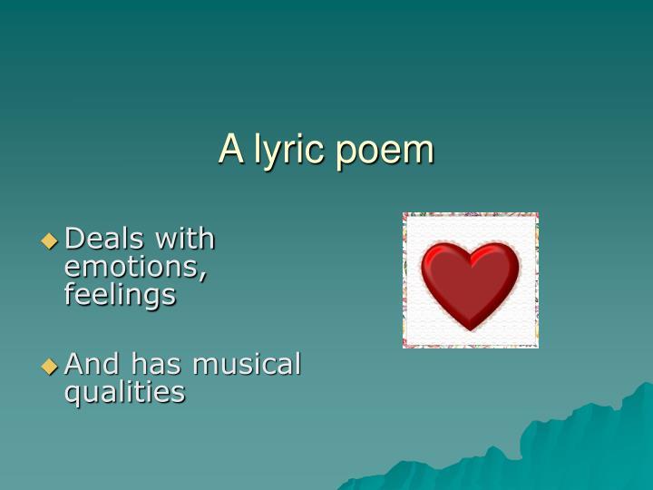 A lyric poem