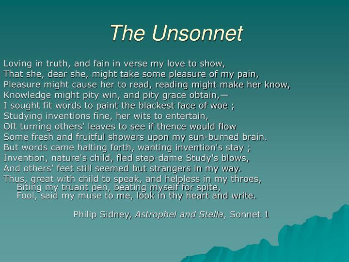 The Unsonnet