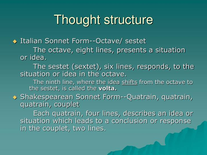 Thought structure