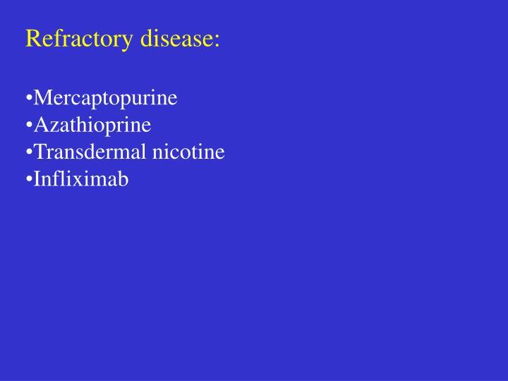 Refractory disease: