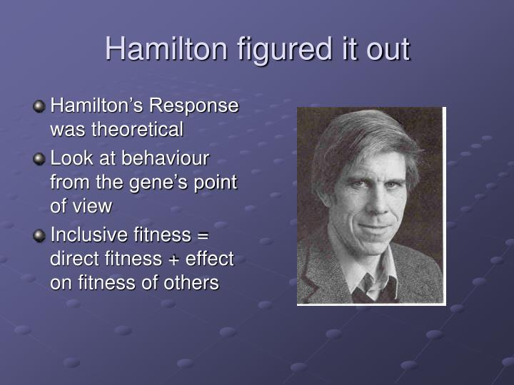 Hamilton figured it out