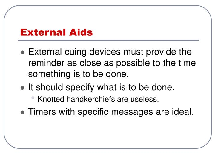 External Aids