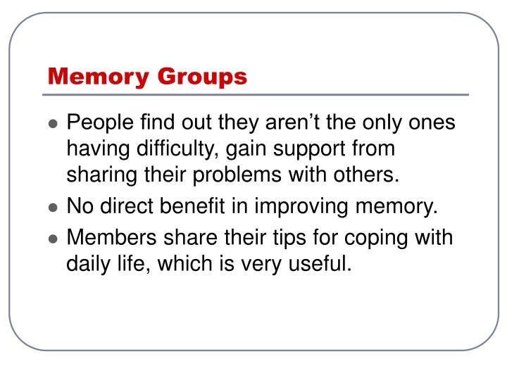 Memory Groups