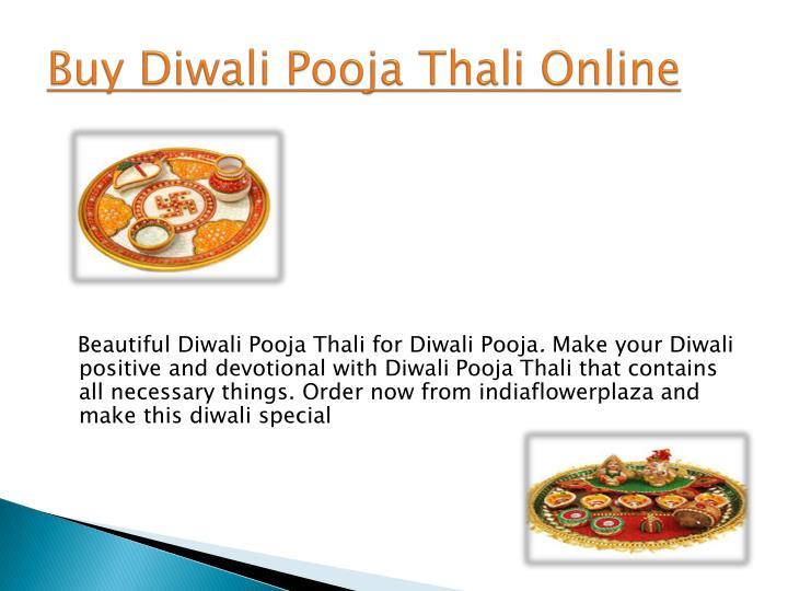 Buy Diwali Pooja Thali Online