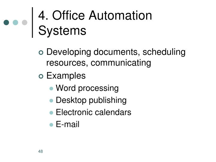 4. Office Automation Systems
