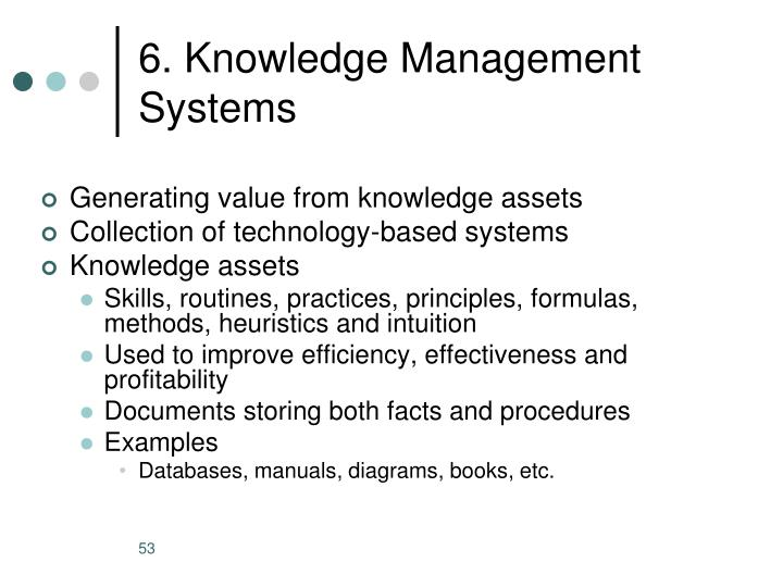 6. Knowledge Management Systems