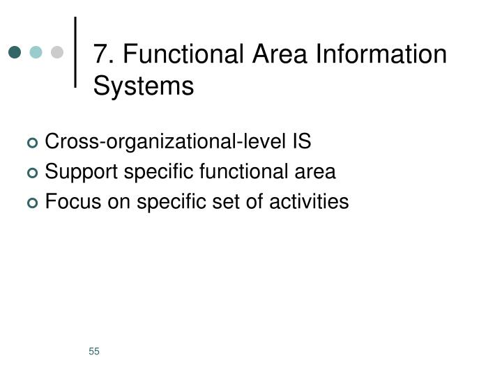7. Functional Area Information Systems