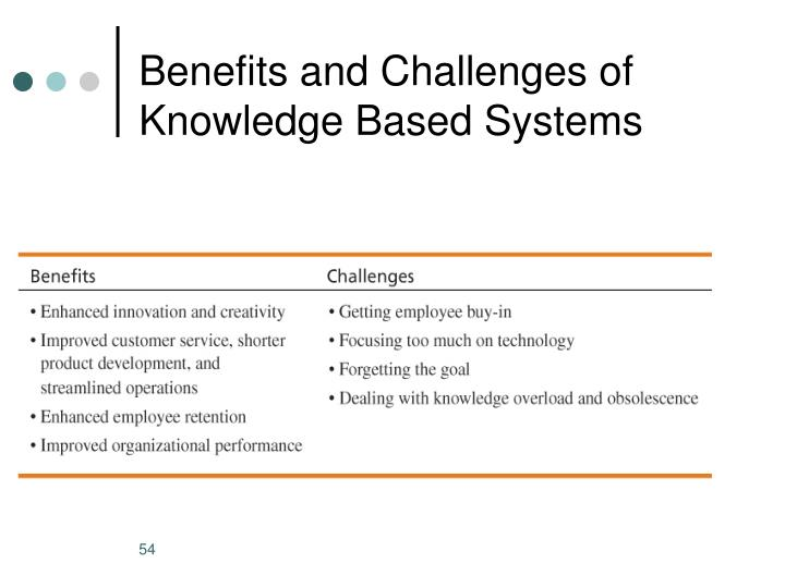 Benefits and Challenges of Knowledge Based Systems