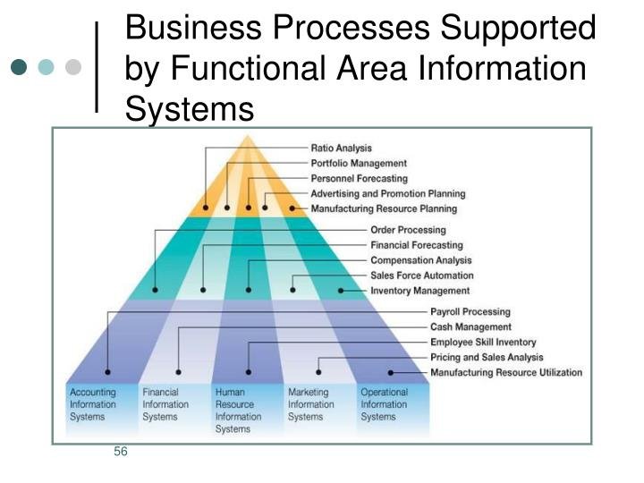 Business Processes Supported by Functional Area Information Systems